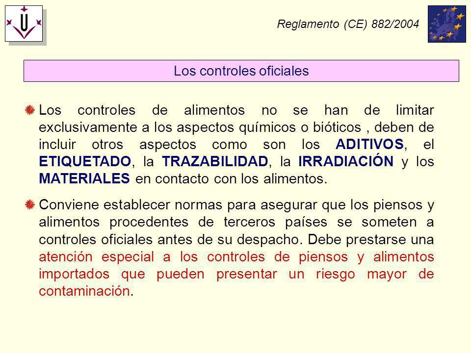 Los controles oficiales