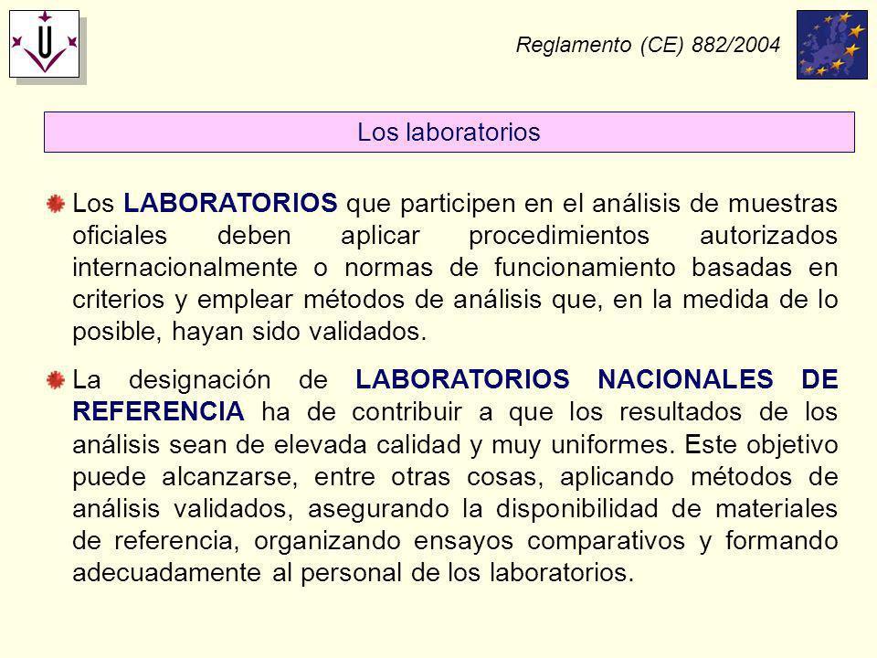 Reglamento (CE) 882/2004 Los laboratorios.