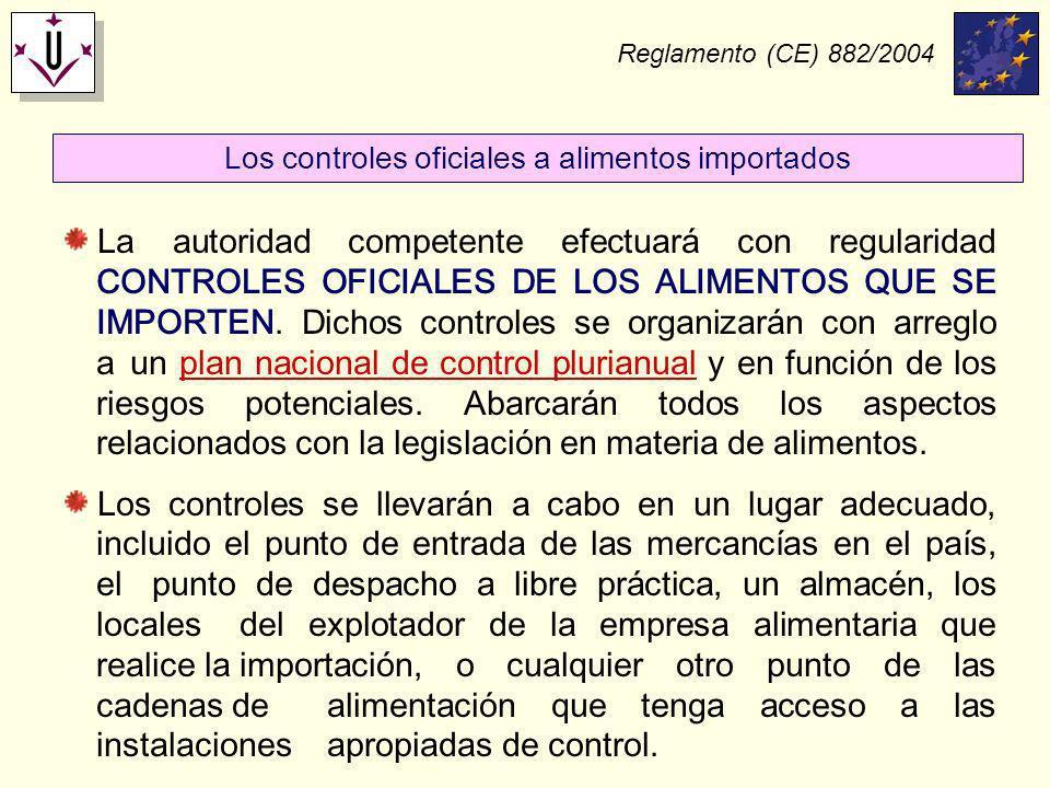 Los controles oficiales a alimentos importados