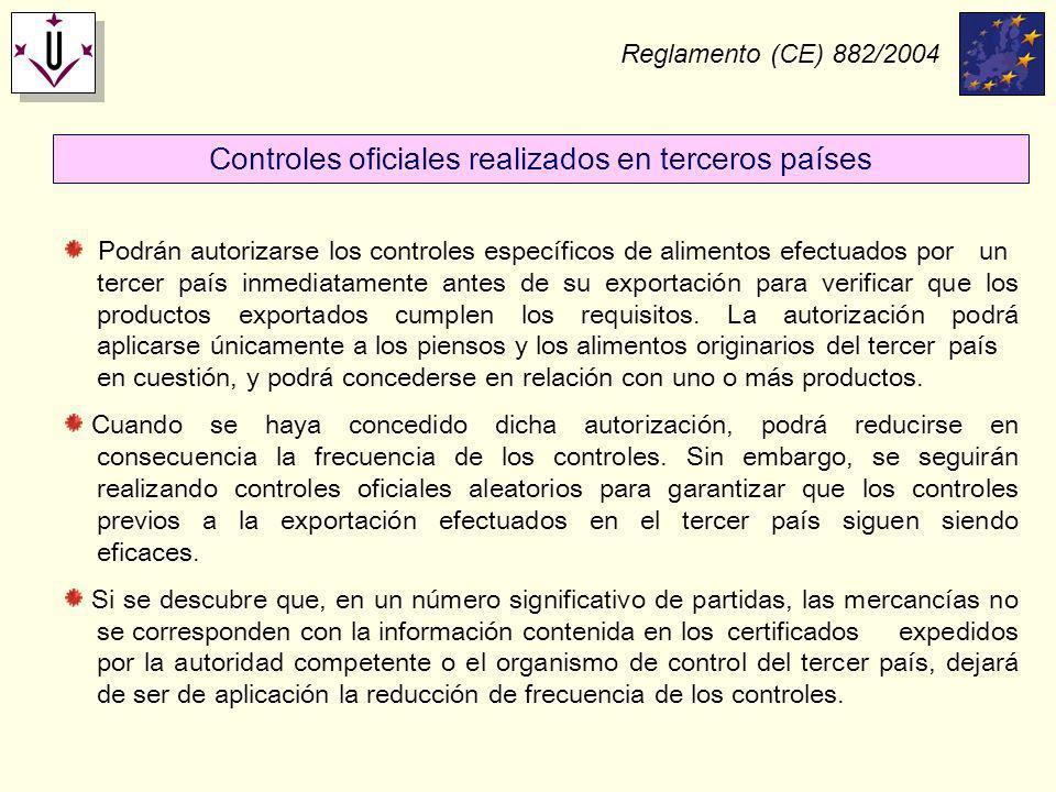 Controles oficiales realizados en terceros países