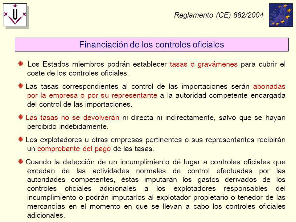 Financiación de los controles oficiales