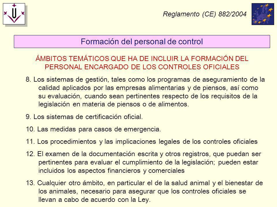 Formación del personal de control