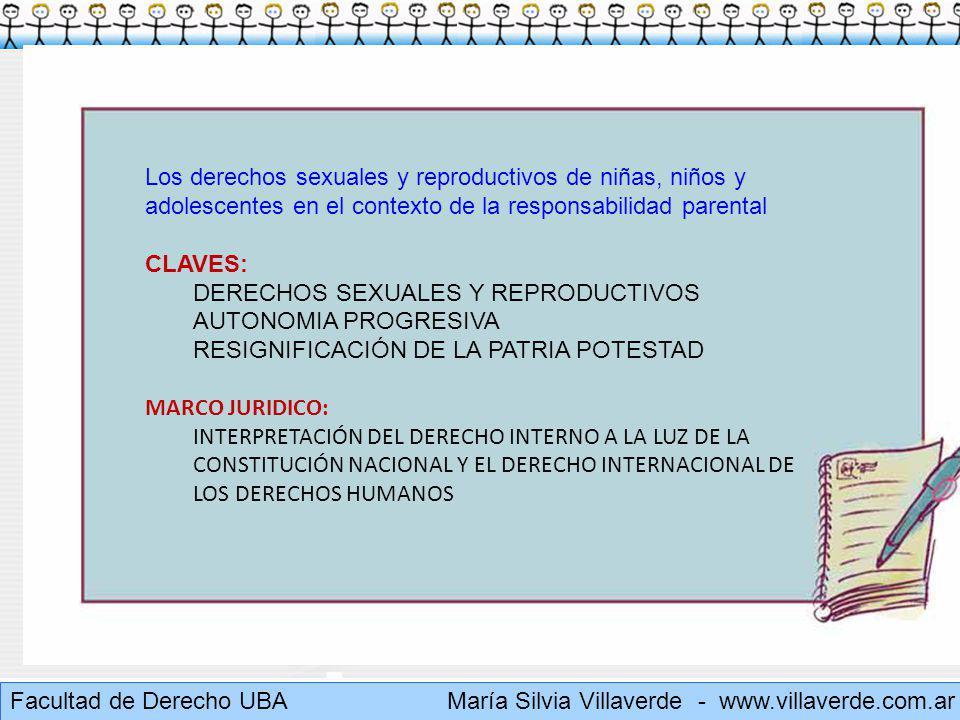 Los derechos sexuales y reproductivos de niñas, niños y adolescentes en el contexto de la responsabilidad parental