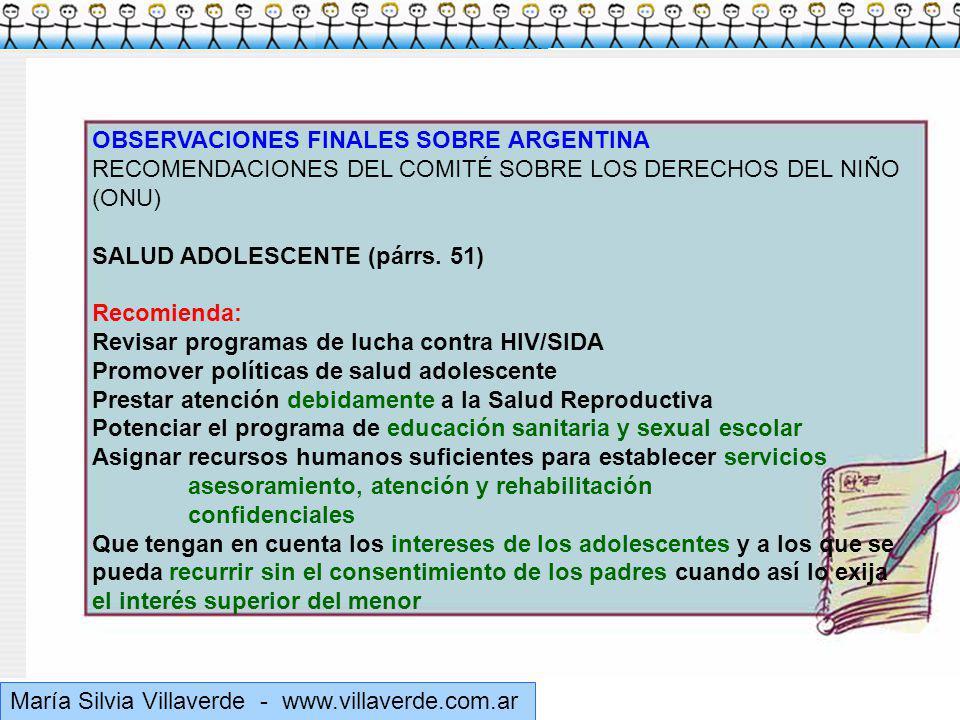 Muchas gracias OBSERVACIONES FINALES SOBRE ARGENTINA