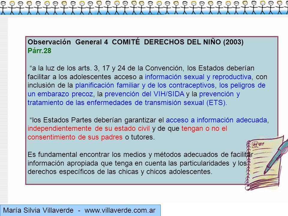 Muchas gracias Observación General 4 COMITÉ DERECHOS DEL NIÑO (2003)