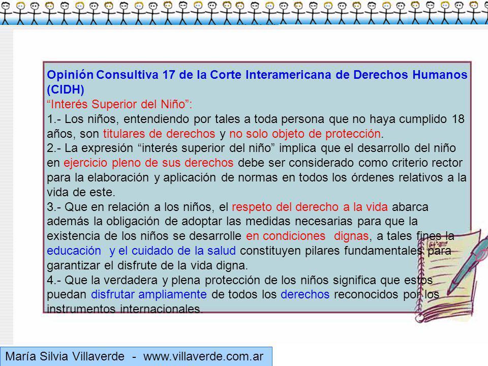 Opinión Consultiva 17 de la Corte Interamericana de Derechos Humanos (CIDH)