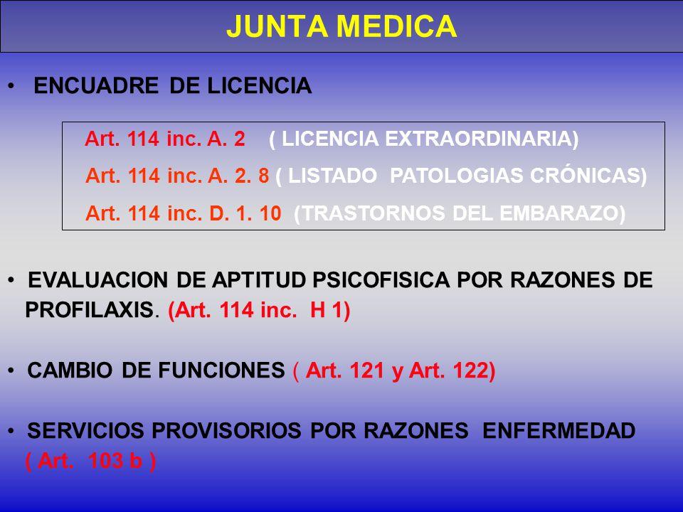 JUNTA MEDICA ENCUADRE DE LICENCIA