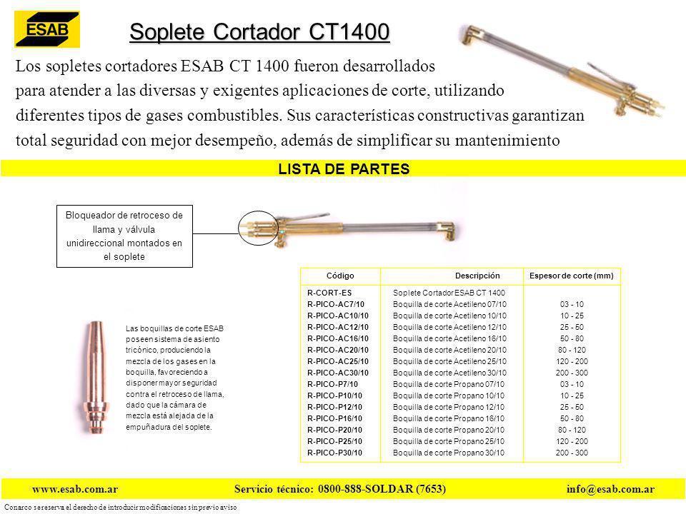 Soplete Cortador CT1400