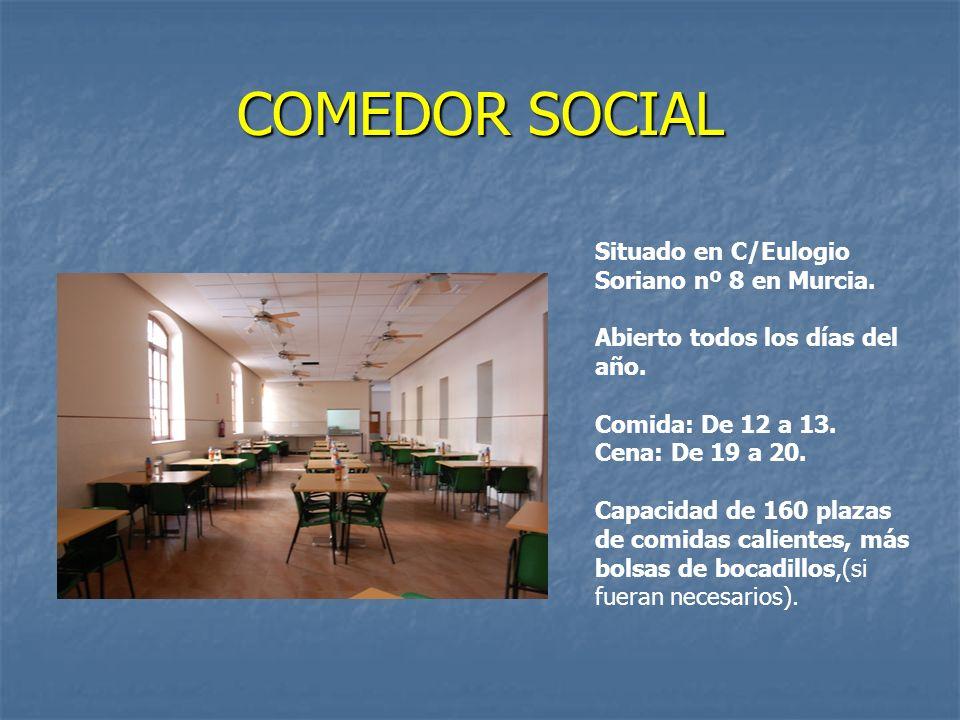 COMEDOR SOCIAL Situado en C/Eulogio Soriano nº 8 en Murcia.