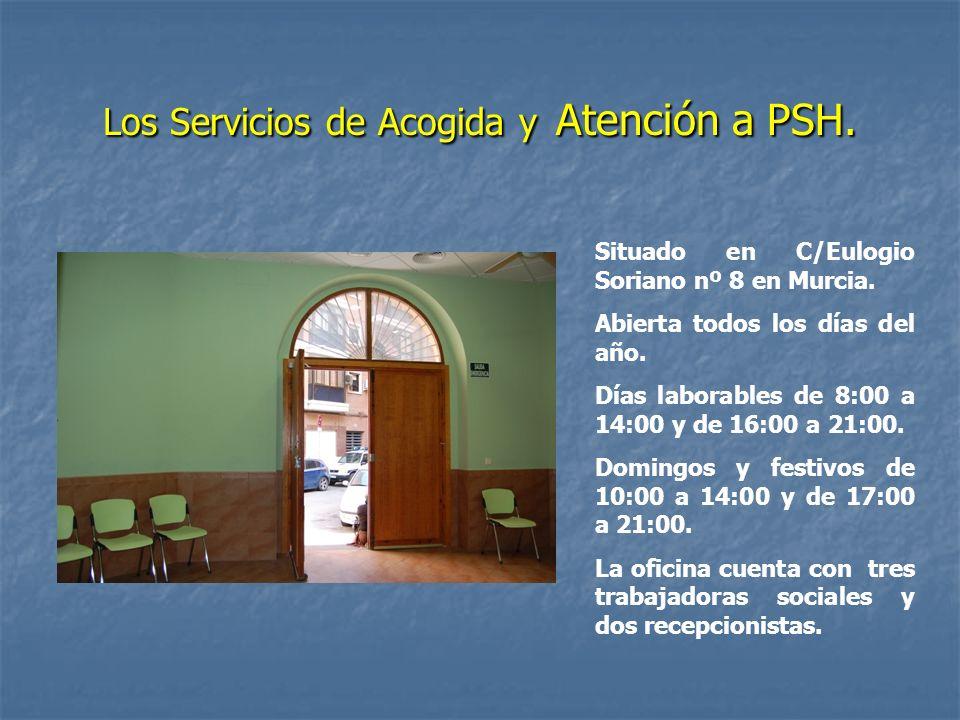 Los Servicios de Acogida y Atención a PSH.