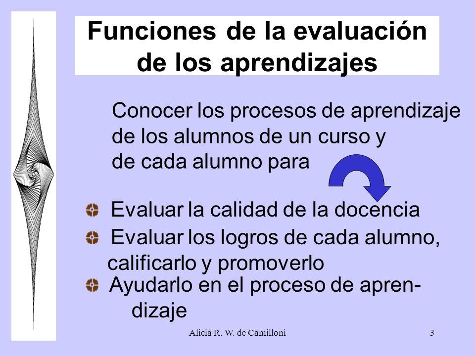 Funciones de la evaluación de los aprendizajes