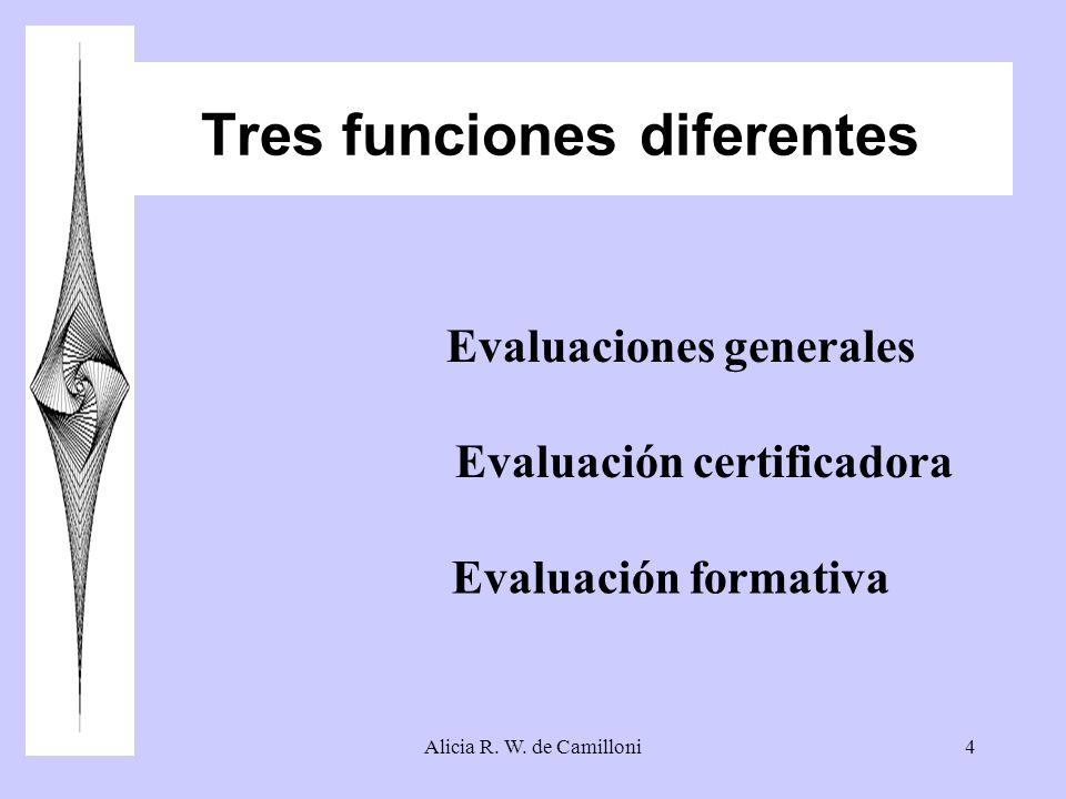 Tres funciones diferentes