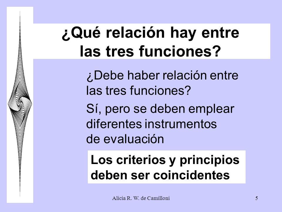 ¿Qué relación hay entre las tres funciones