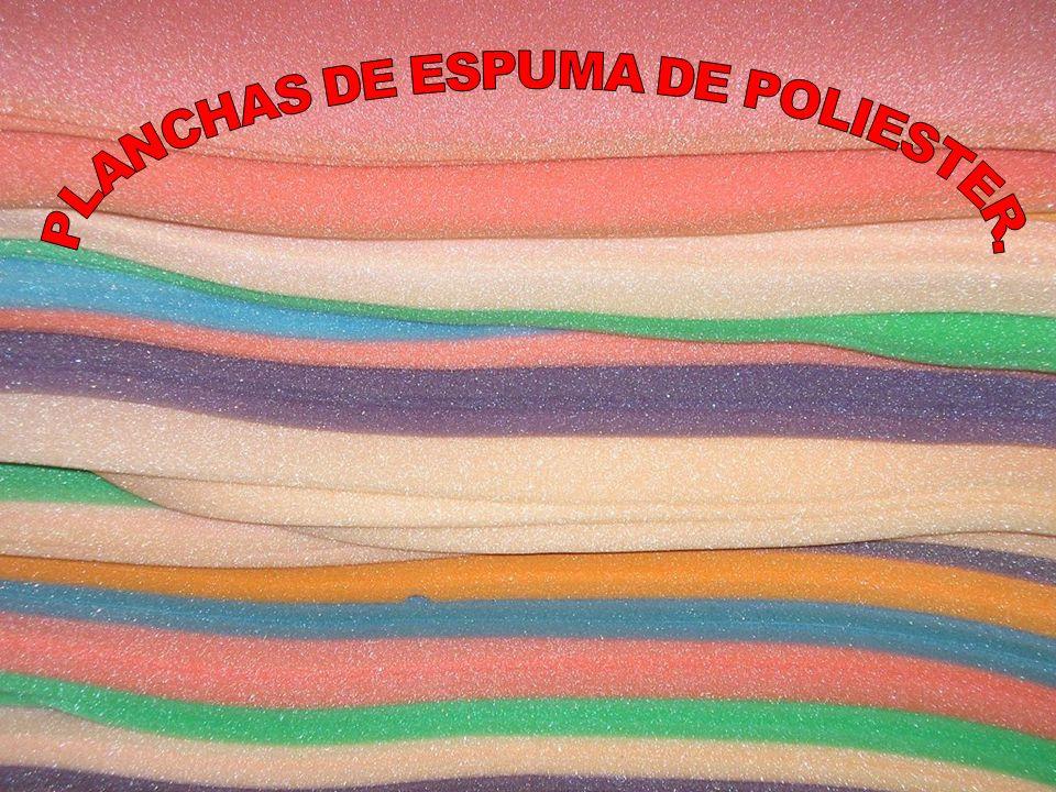 PLANCHAS DE ESPUMA DE POLIESTER.