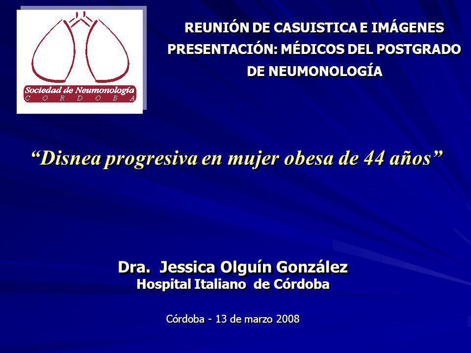 Disnea progresiva en mujer obesa de 44 años