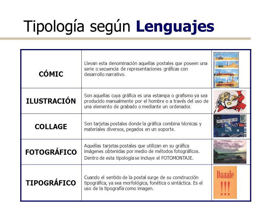 Tipología según Lenguajes