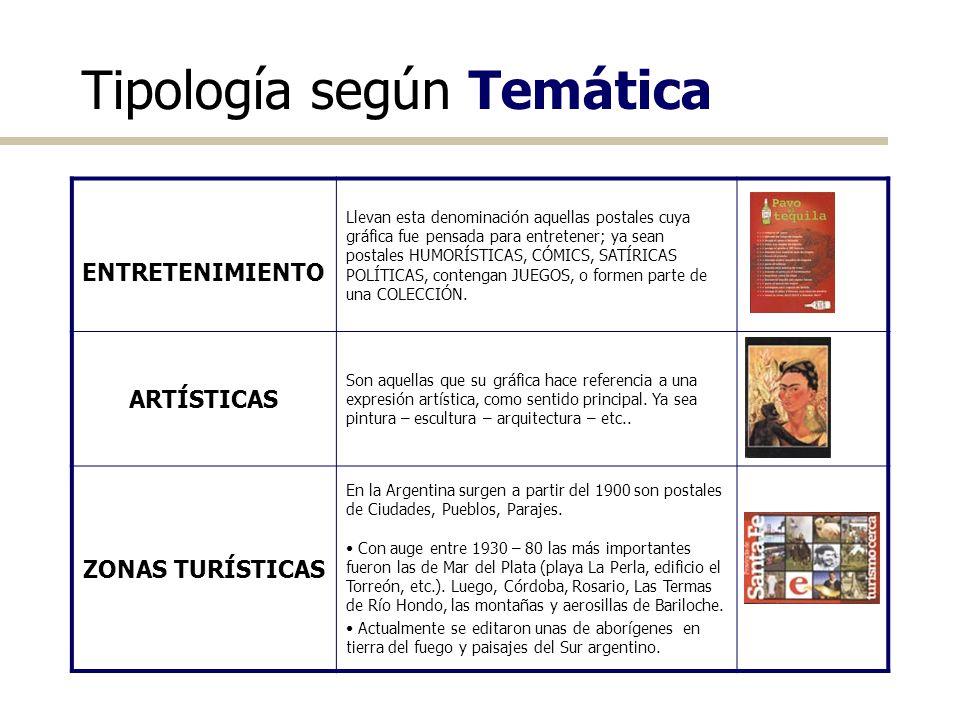 Tipología según Temática