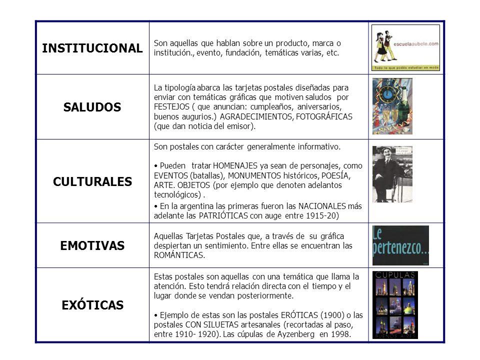 INSTITUCIONAL SALUDOS CULTURALES EMOTIVAS EXÓTICAS