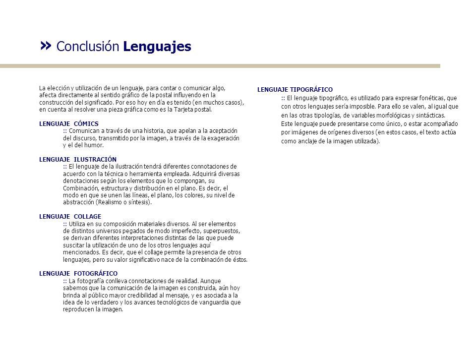 » Conclusión Lenguajes