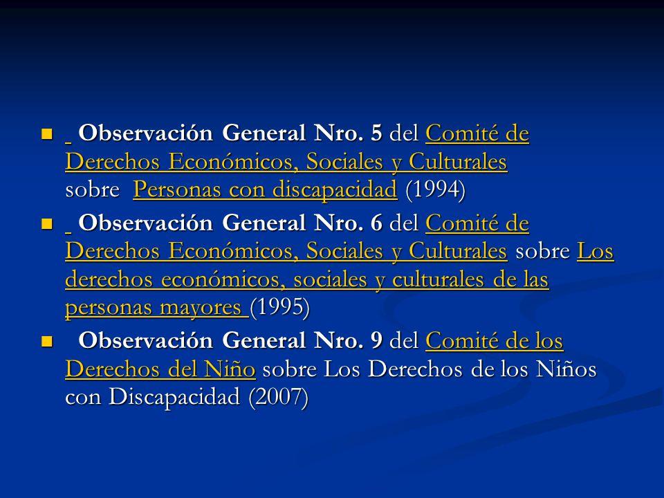 Observación General Nro