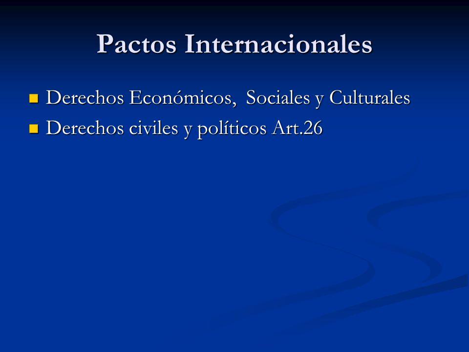 Pactos Internacionales