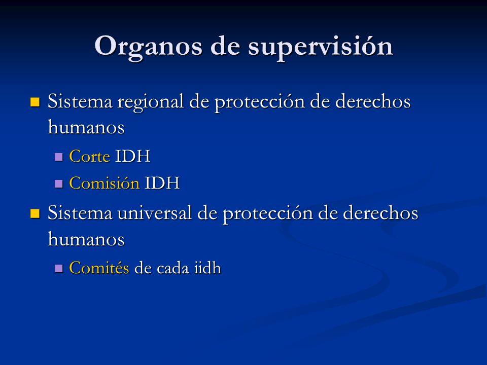 Organos de supervisión