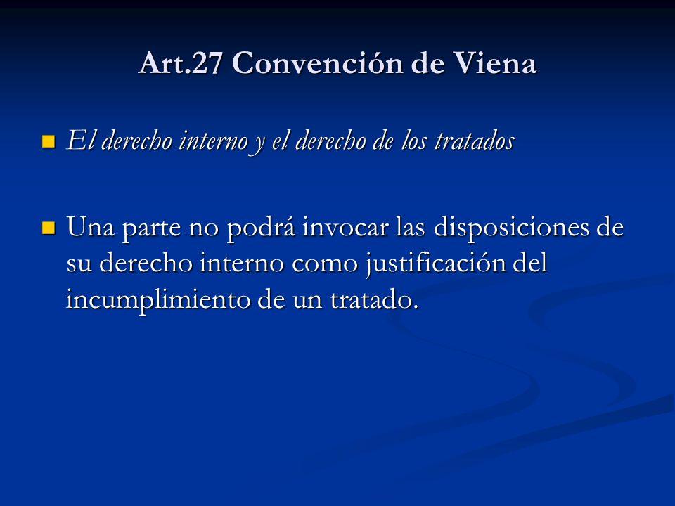 Art.27 Convención de Viena