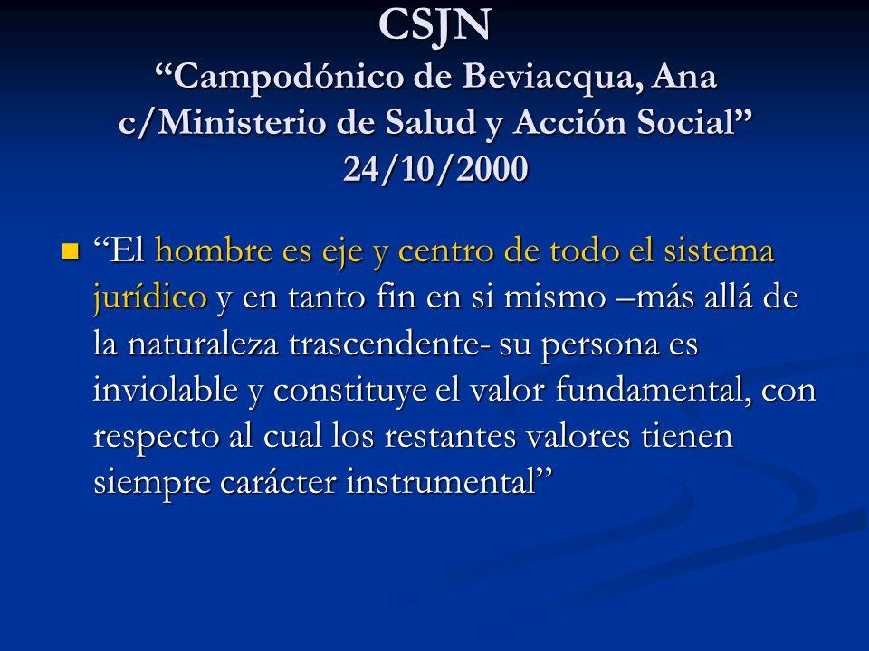 CSJN Campodónico de Beviacqua, Ana c/Ministerio de Salud y Acción Social 24/10/2000
