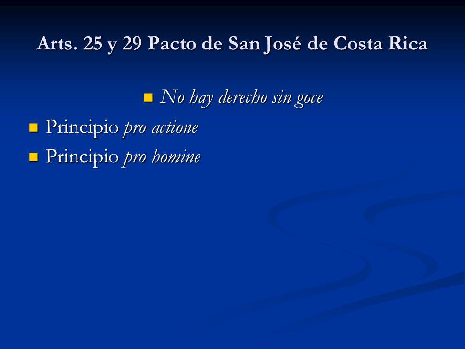 Arts. 25 y 29 Pacto de San José de Costa Rica