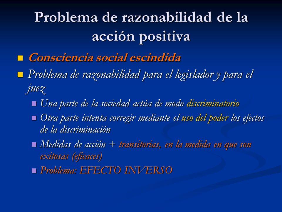 Problema de razonabilidad de la acción positiva