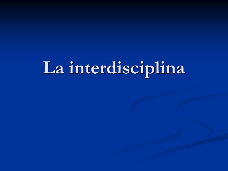 La interdisciplina