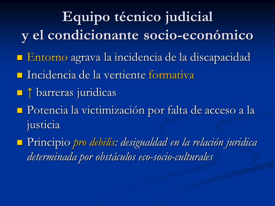 Equipo técnico judicial y el condicionante socio-económico