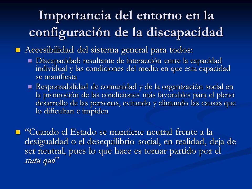 Importancia del entorno en la configuración de la discapacidad