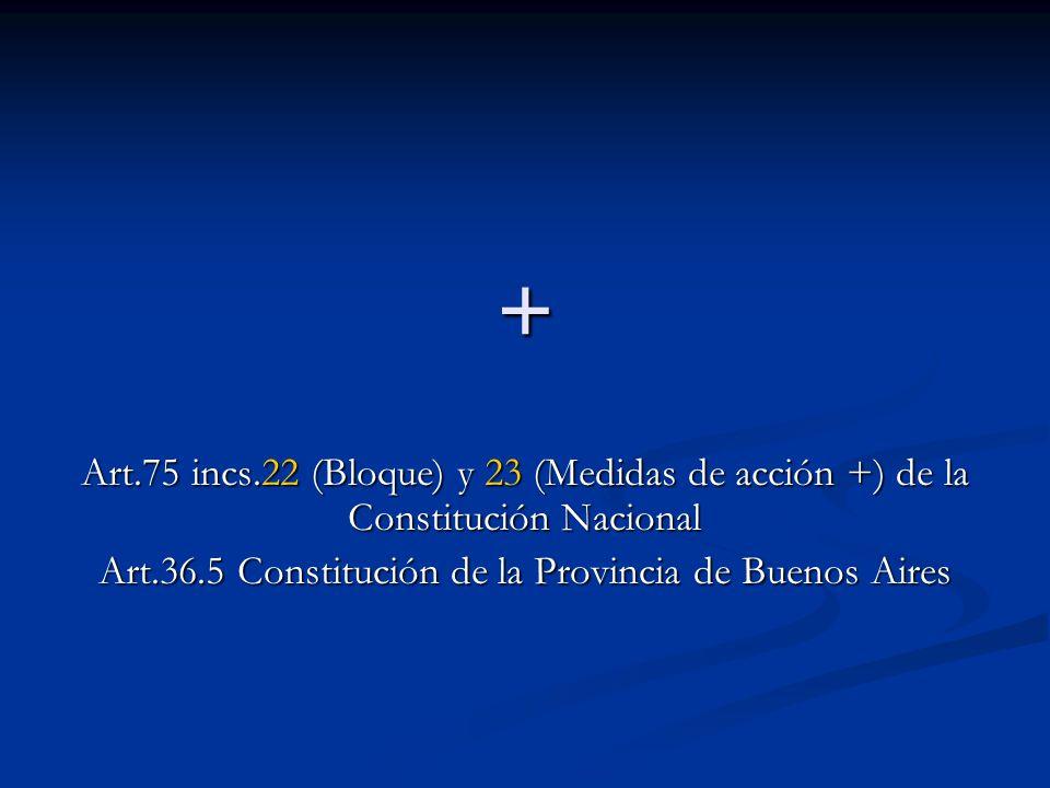 Art.36.5 Constitución de la Provincia de Buenos Aires