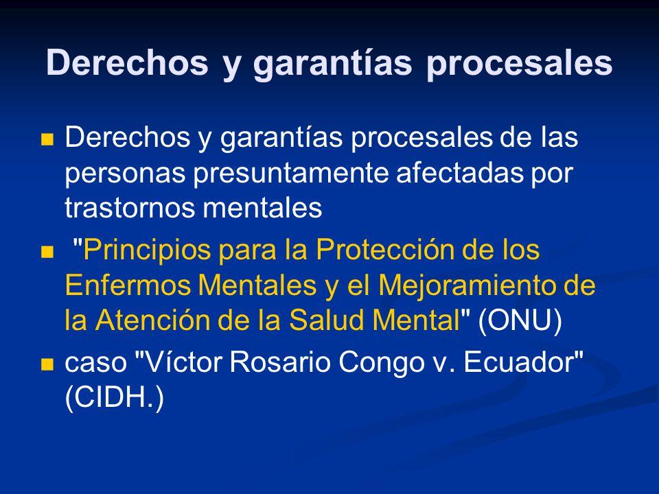 Derechos y garantías procesales