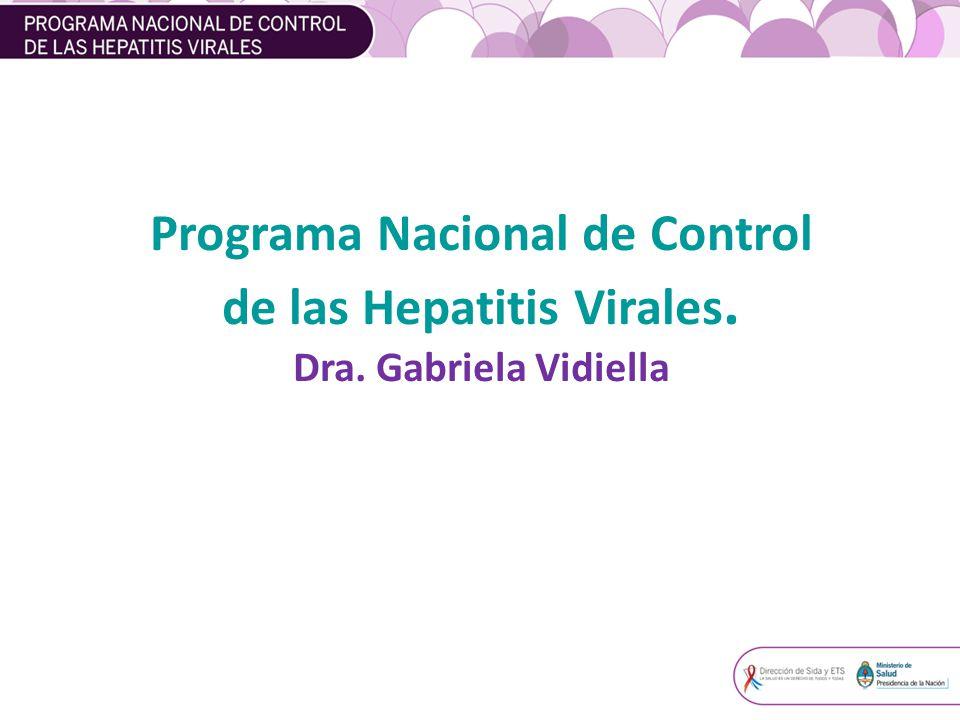 Programa Nacional de Control de las Hepatitis Virales.