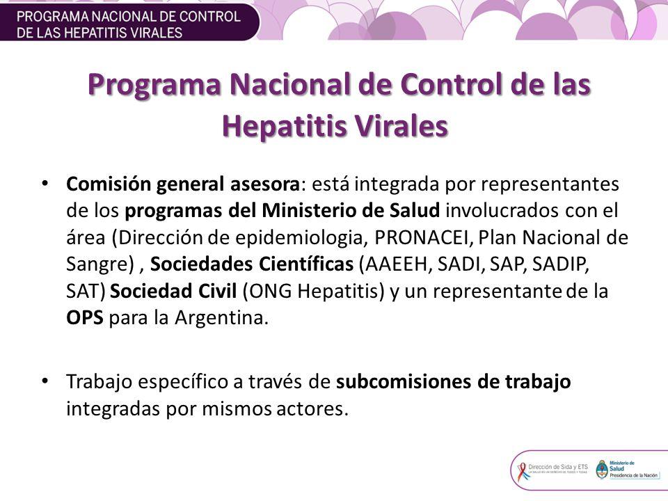 Programa Nacional de Control de las Hepatitis Virales