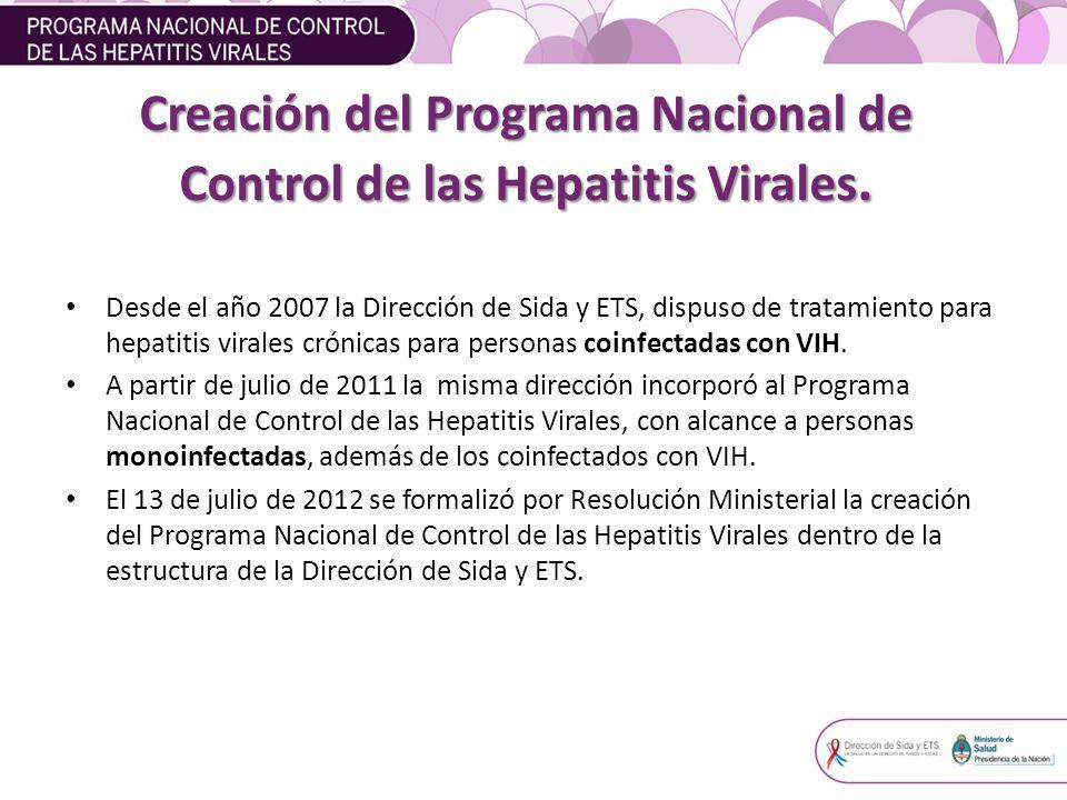 Creación del Programa Nacional de Control de las Hepatitis Virales.