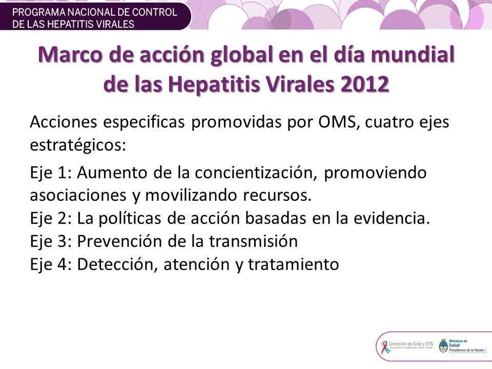 Marco de acción global en el día mundial de las Hepatitis Virales 2012
