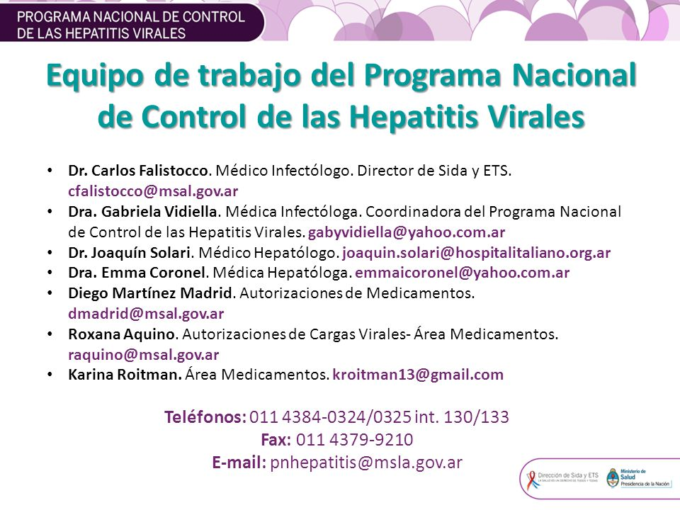 E-mail: pnhepatitis@msla.gov.ar