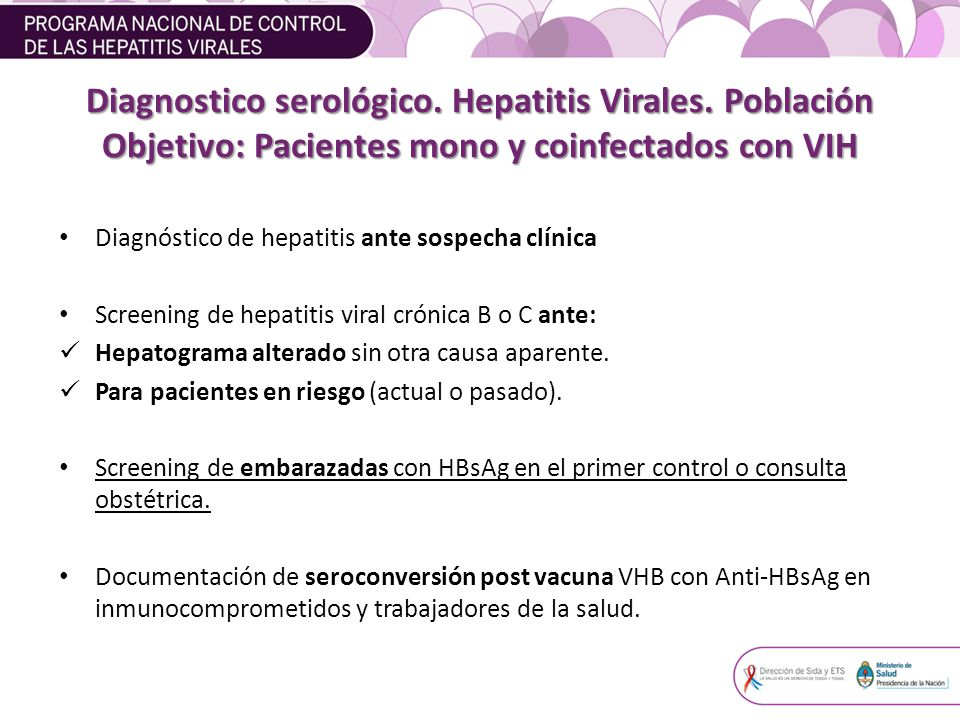 Diagnostico serológico. Hepatitis Virales