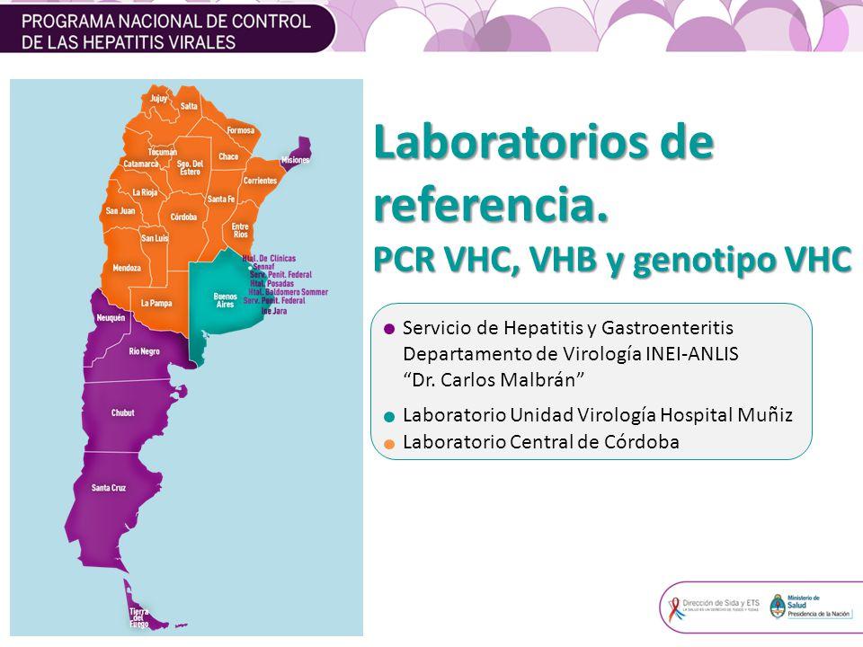 Laboratorios de referencia. PCR VHC, VHB y genotipo VHC