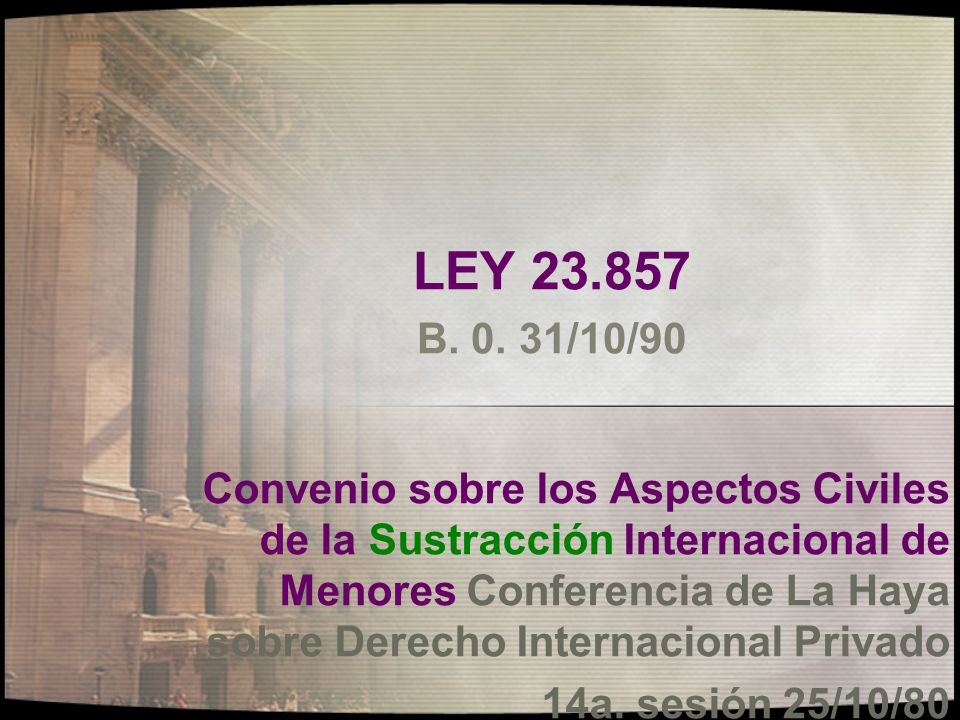 LEY 23.857 B. 0. 31/10/90