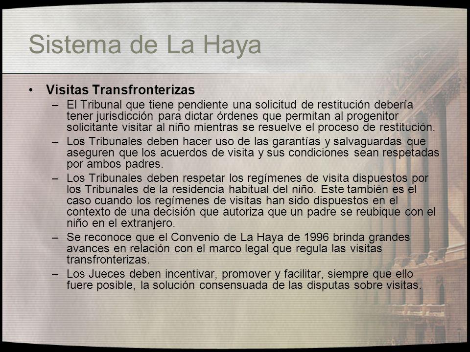 Sistema de La Haya Visitas Transfronterizas