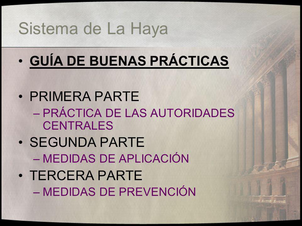 Sistema de La Haya GUÍA DE BUENAS PRÁCTICAS PRIMERA PARTE