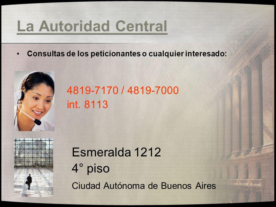 La Autoridad Central Esmeralda 1212 4° piso