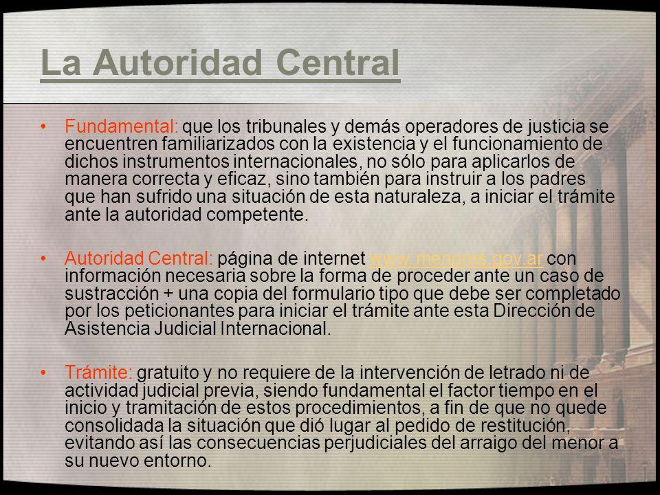 La Autoridad Central