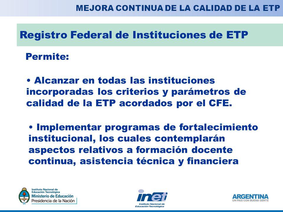 Registro Federal de Instituciones de ETP
