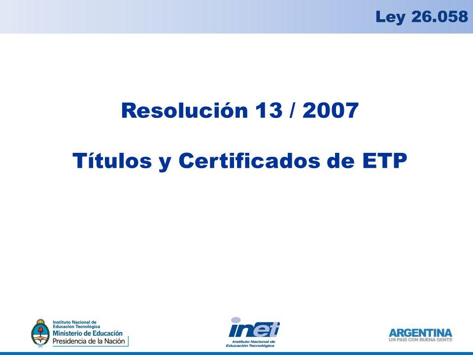 Títulos y Certificados de ETP