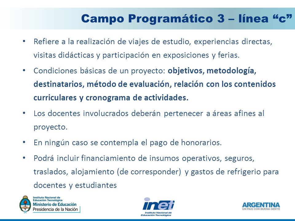 Campo Programático 3 – línea c